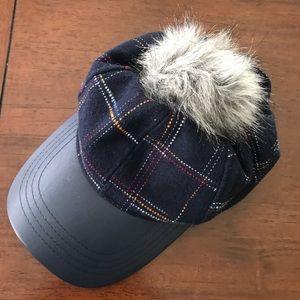 Vince Camuto fur ball cap hat